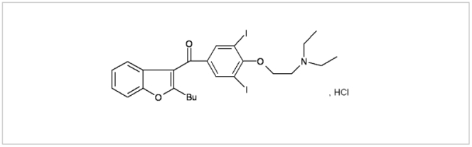 Amiodarone, HCl active pharmaceutical ingredient